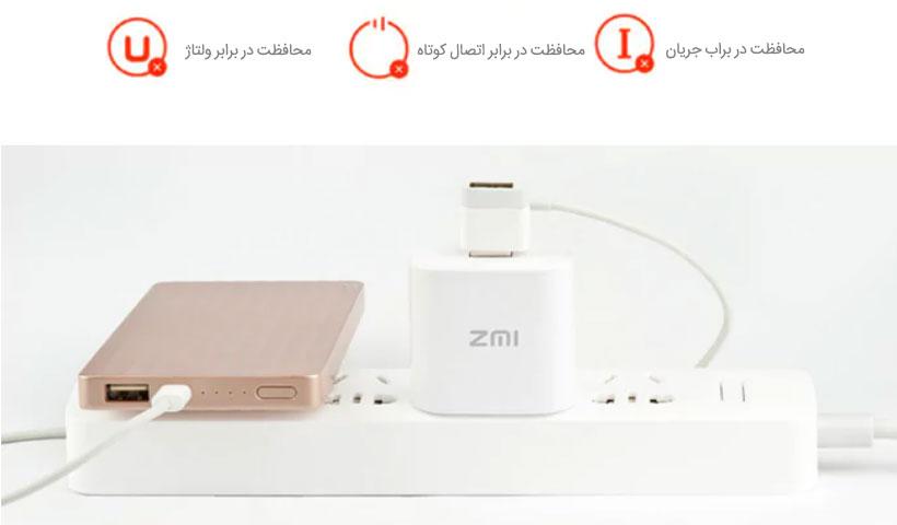 آداپتور شارژ سریع تک پورت Xiaomi ZMI HA511 Quick Charge