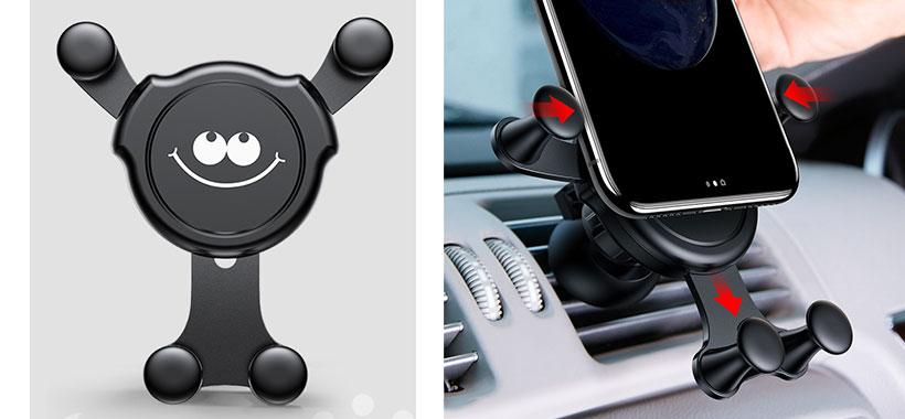 پایه نگهدارنده گوشی Baseus Emoticon Gravity Car Mount